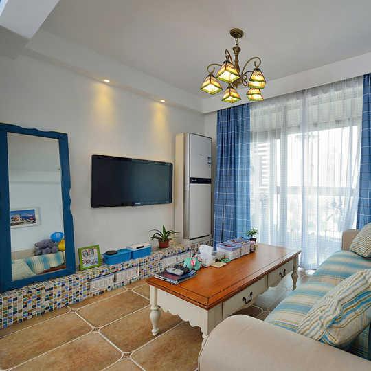 使用面积60平米三房二厅一厨一卫,纯美浪漫的地中海风格。