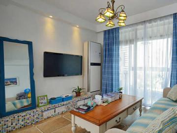 62m²蓝色地中海式风格