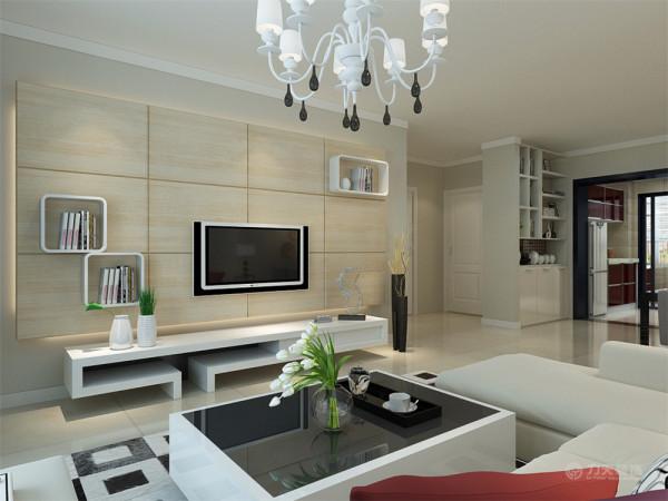 方案是来自日华里的96㎡2室2厅1厨1卫的户型,整体的设计方案是以现代简约为主题。整体的色调以素雅为主,淡雅的气氛衬托出居室的温馨。