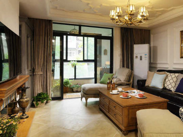 100m²三房二厅美式风格设计案例