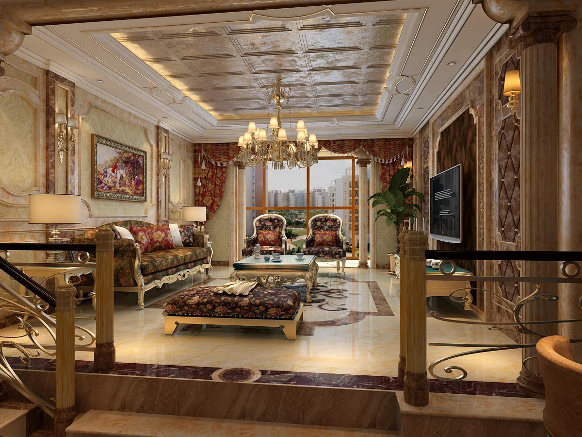 欧式 三居 别墅 石家庄 客厅图片来自城市人家石家庄店在水榭花都装修效果图的分享