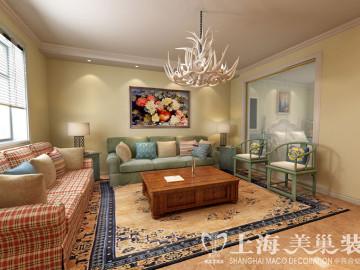 永威翡翠城90平两室两厅装修效果