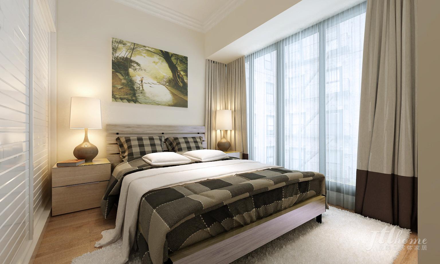 简约 二居 宜居 舒适 温馨 卧室图片来自居泰隆深圳在振业天峦 现代简约二居室的分享
