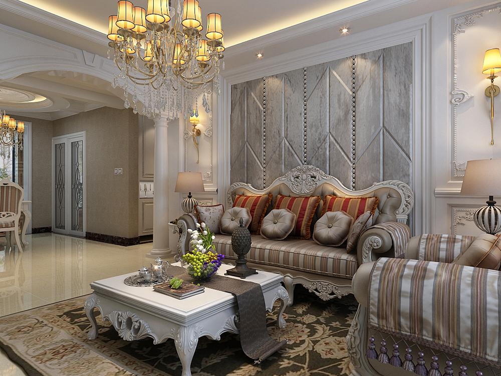 欧式 三居 80后 小资 客厅图片来自乐豪斯装饰马志在保利花园E区137㎡欧式装修效果图的分享