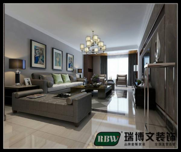 客厅的整体选择了一个淡定的色漆,是整体不要太空旷,地面砖选择也是以简单实用为主