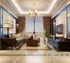东方国际广场4号楼89平两室两厅新古典装修效果图--客厅