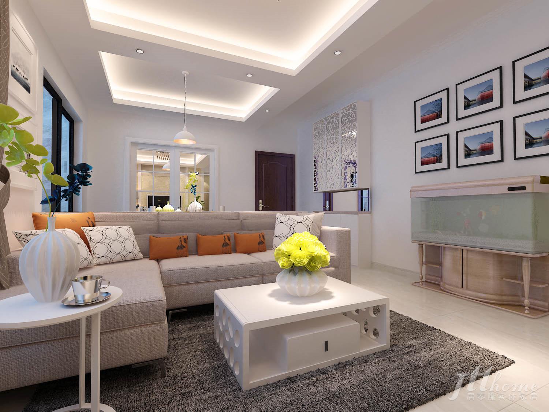 简约 三居 宜居 舒适 温馨 客厅图片来自居泰隆深圳在振业天峦现代简约三居室的分享
