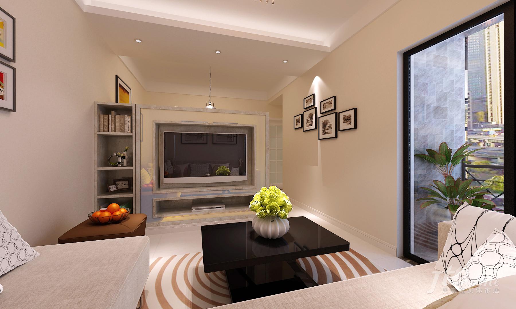 简约 二居 温馨 舒适 宜居 客厅图片来自居泰隆深圳在振业天峦 现代简约 二居室的分享