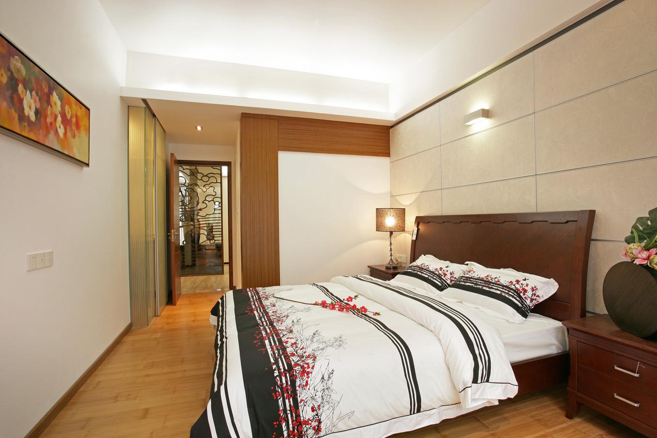 中式 别墅 白领 收纳 卧室图片来自北京装修设计o在中式风格名都园装修设计的分享
