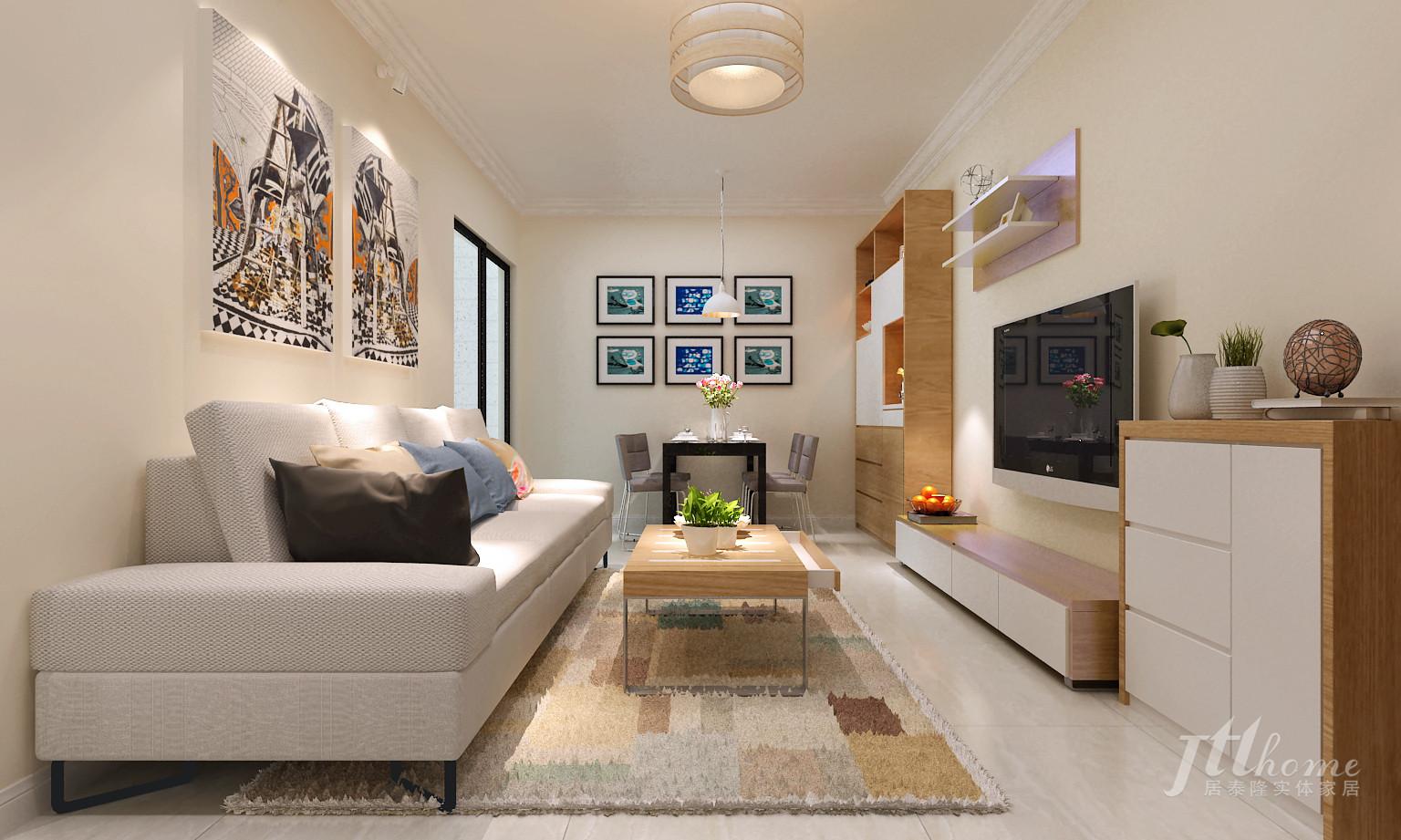 简约 二居 宜居 舒适 温馨 客厅图片来自居泰隆深圳在振业天峦 现代简约二居室的分享