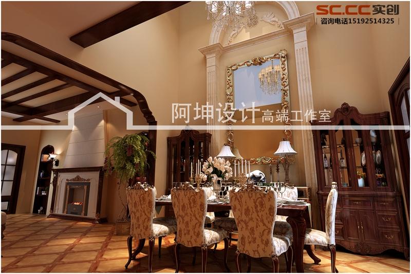别墅 依云小镇 美式乡村 餐厅图片来自快乐彩在别墅装修设计依云小镇美式乡村的分享