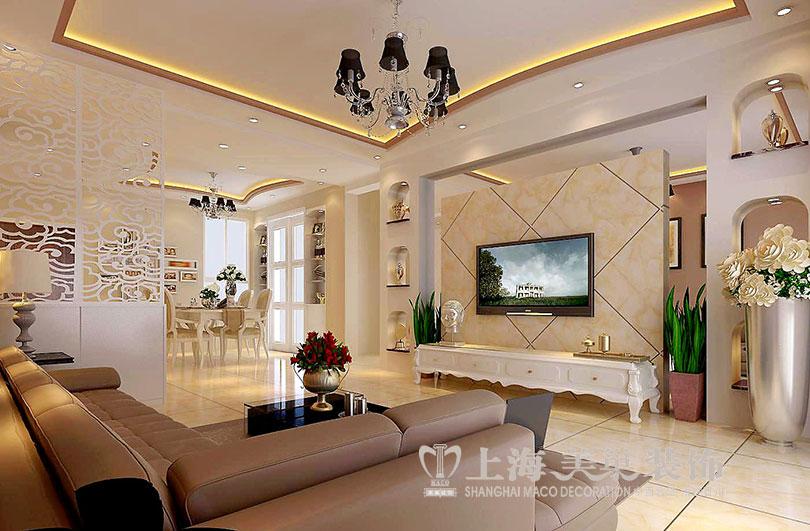 三居 白领 小资 80后 简约 客厅图片来自美巢装饰--李凌晨在锦棠160平三室两厅装修效果图的分享