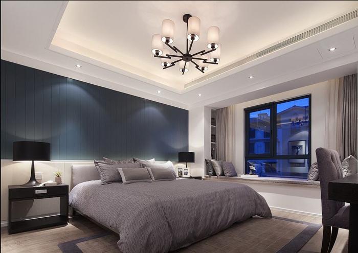 """简约 混搭 三居 白领 80后 卧室图片来自蓝图腾装饰小光在时代小镇-现代""""蓝""""调设计的分享"""