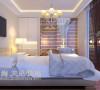 正商新蓝钻现代简约80平复式装修案例效果图——卧室效果图