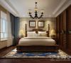 蓝堡湾139平三室两厅美式乡村装修案例——卧室效果图