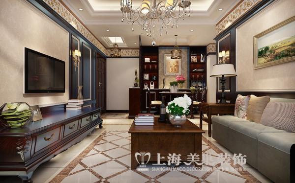 东方国际广场89平两2室2厅新古典装修效果图--客餐厅