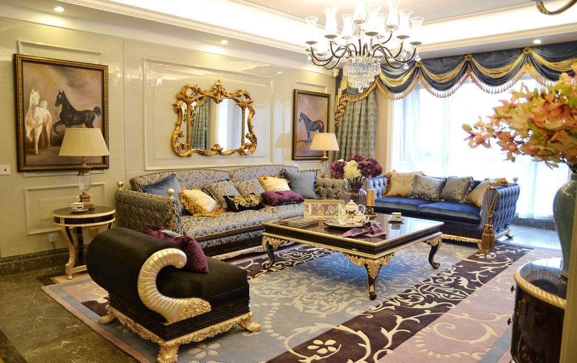欧式 奢华 别墅 收纳 小资 客厅图片来自别墅装修尚层装饰王丽在奢华的欧式宫廷范~的分享