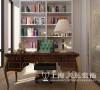 鑫苑世家180平四室两厅简欧风格装修效果图--书房