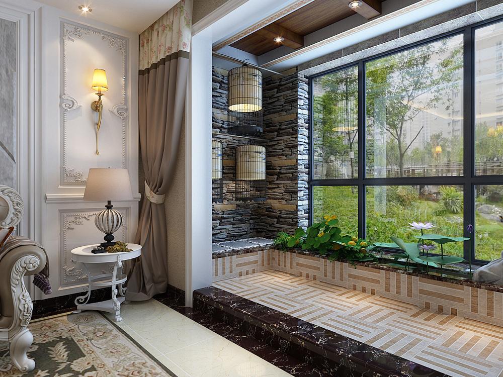 欧式 三居 80后 小资 阳台图片来自乐豪斯装饰马志在保利花园E区137㎡欧式装修效果图的分享
