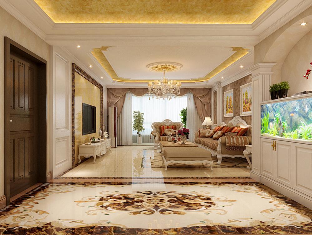 欧式 三居 80后 天下玉苑装 客厅图片来自石家庄乐豪斯装饰公司在天下玉苑180㎡三室欧式装修的分享