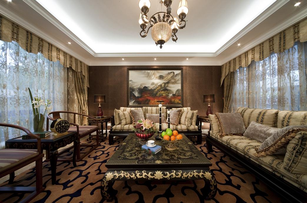 客厅图片来自朗润装饰工程有限公司在中海九号公馆 混搭的分享