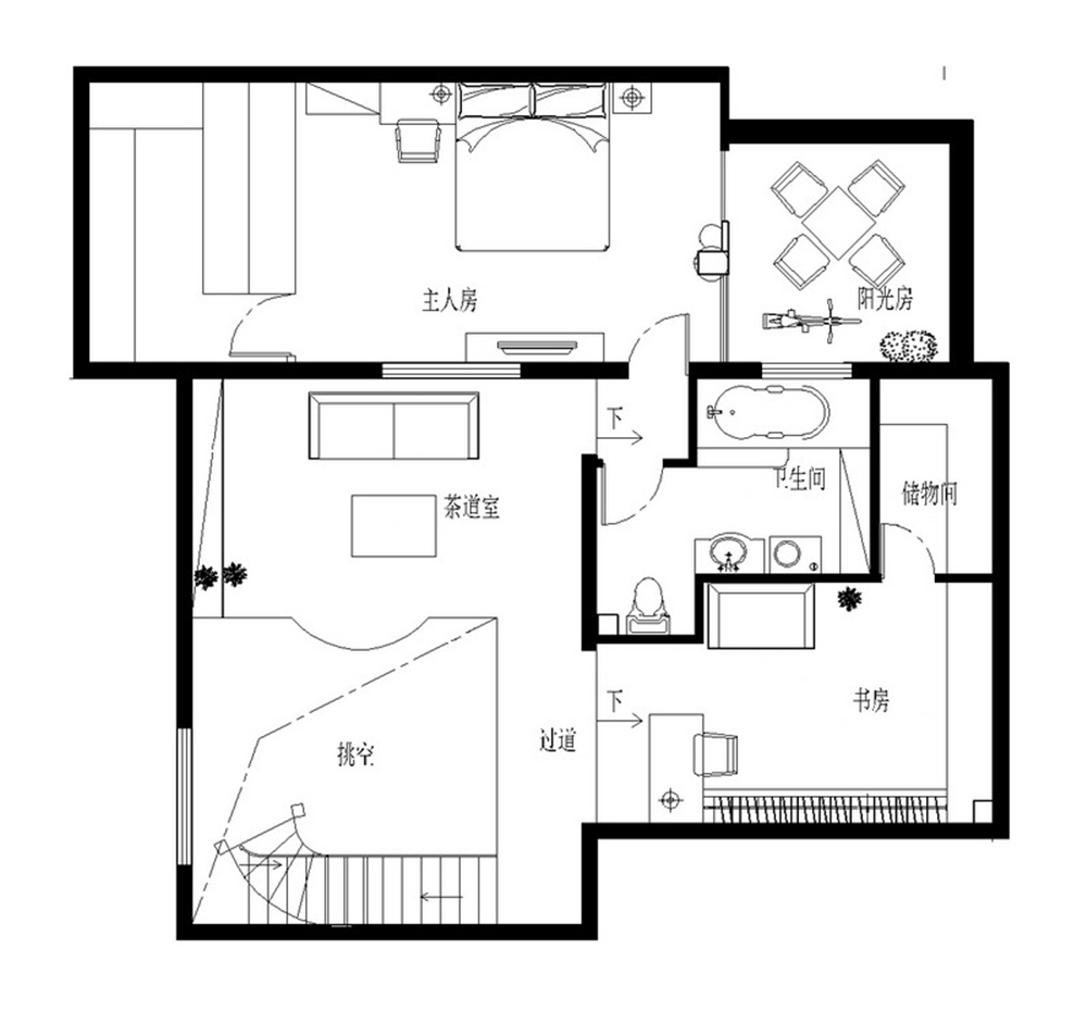 三居 别墅 白领 收纳 80后 小资 户型图图片来自实创装饰完美家装在金色漫香林236平简欧风格案例的分享