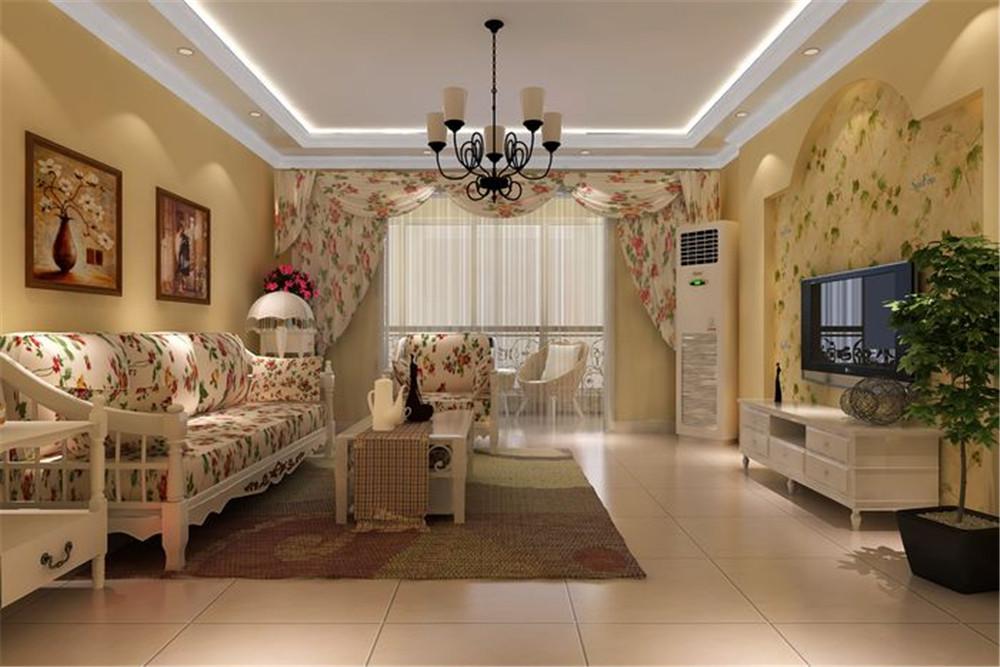 客厅图片来自fy1160721905在108平欧式田园风格的分享