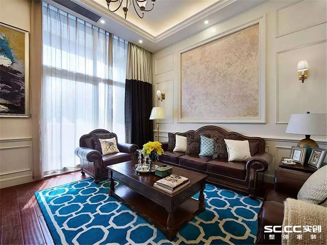 城市广场 美式 三居 客厅图片来自郑州实创装饰啊静在华强城市广场美式三居的分享