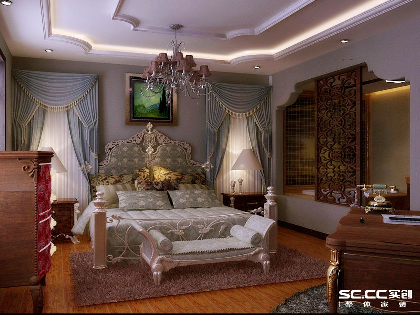 简约 欧式 别墅 白领 收纳 80后 小资 卧室图片来自实创装饰百灵在奢华柔美高贵范的分享