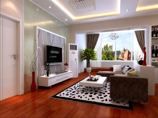 此户型为现代简约风格,原结构为一大开间,通过墙体结构分割出两室一厅一卫一厨,还带一个衣帽间。此户型内部采光的唯一途径就是通过大阳台的垭口采光。