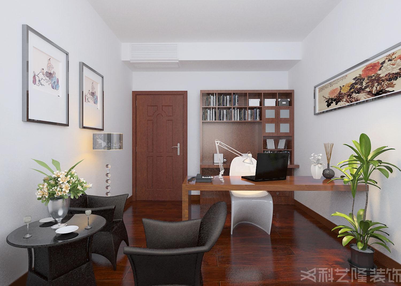 书房图片来自天津科艺隆装饰在龙湾城龙盛园-现代简约-135㎡的分享