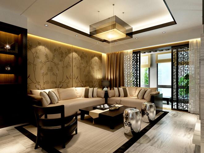 客厅图片来自fy1160721905在首地浣溪谷 三居室 中式风情的分享