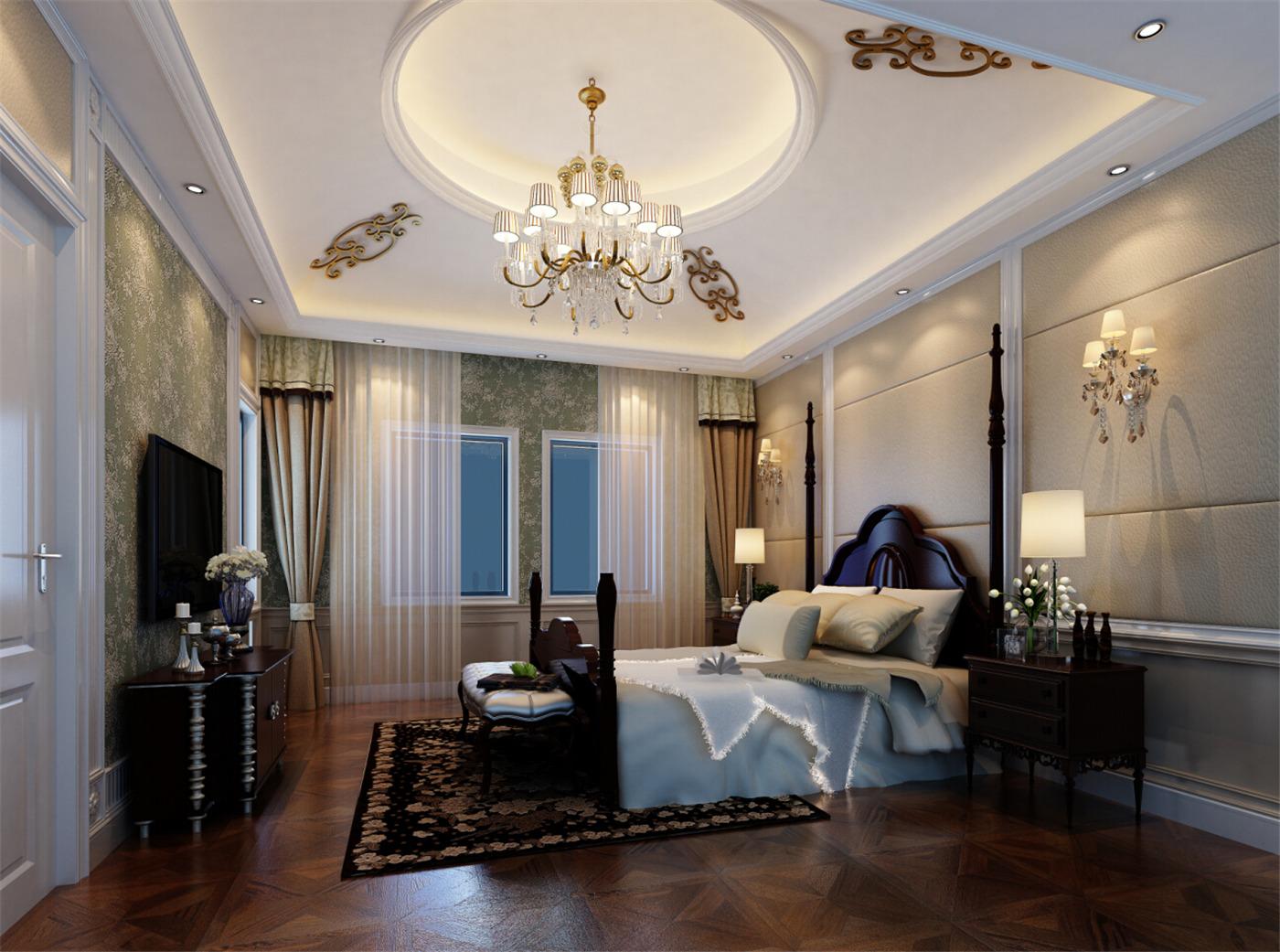 保利叶城 别墅装修 别墅设计 现代风格 腾龙设计 卧室图片来自腾龙设计在保利叶城121号别墅装修设计案例的分享
