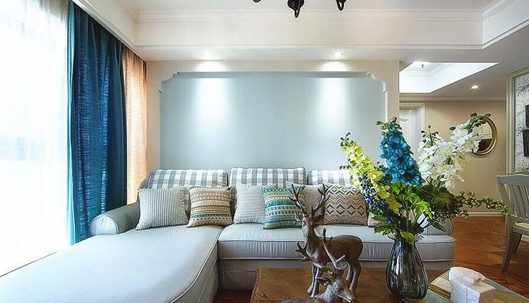 客厅图片来自家装大管家在89平简约纯粹美式 独有一丝幽静的分享