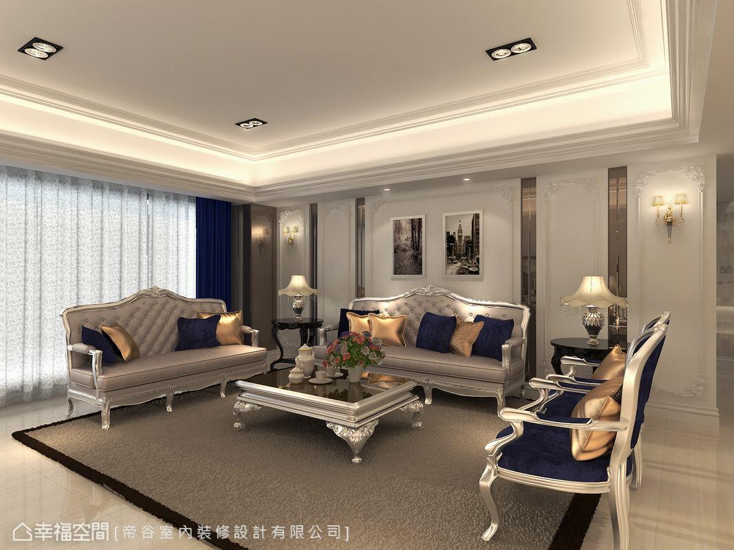 简约 三居 新古典 小资 客厅图片来自幸福空间在230平古典奢华宫廷典雅时尚的分享