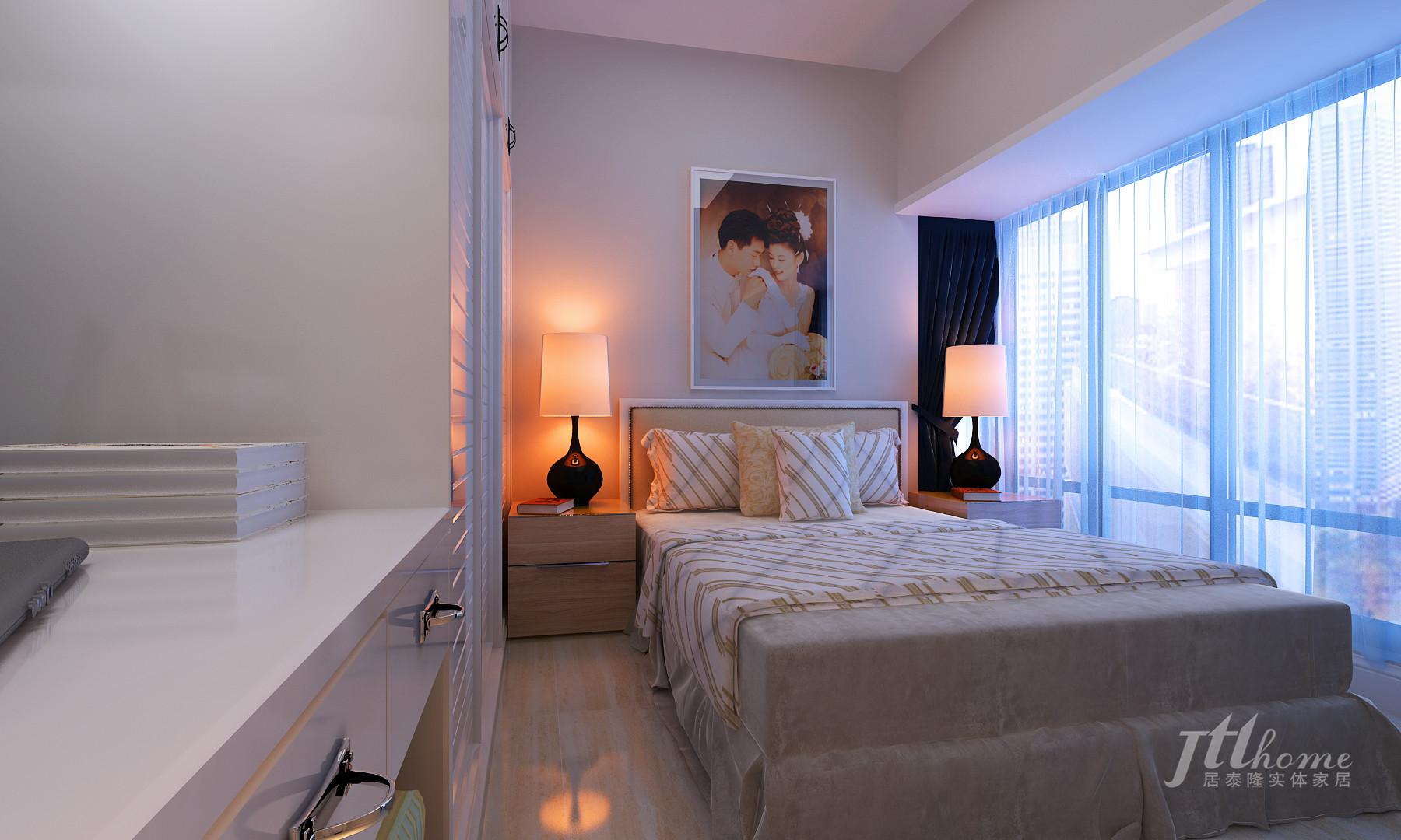 简约 二居 宜居 舒适 温馨 卧室图片来自居泰隆深圳在振业 天峦现代简约二居室的分享