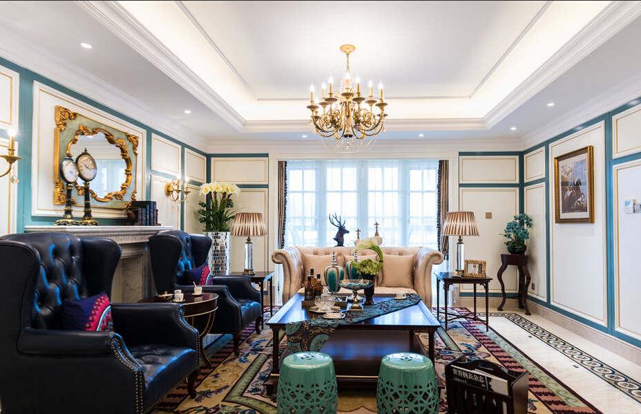 简约 欧式 混搭 四居室 法式风格 城南一号 客厅图片来自成都V2装饰在城南一号新法式风格的分享
