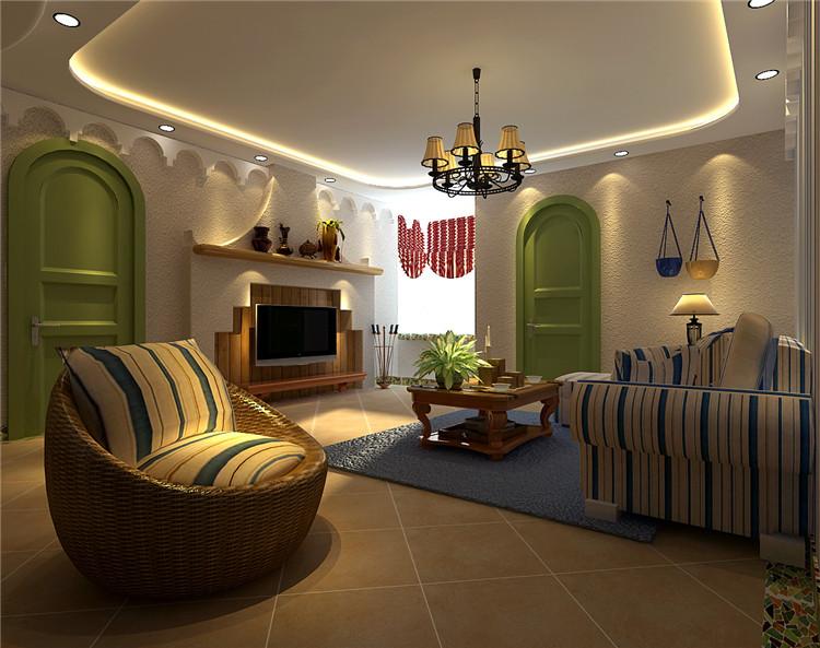 客厅图片来自百家装饰-小李在克莱斯特160平地中海风格的分享