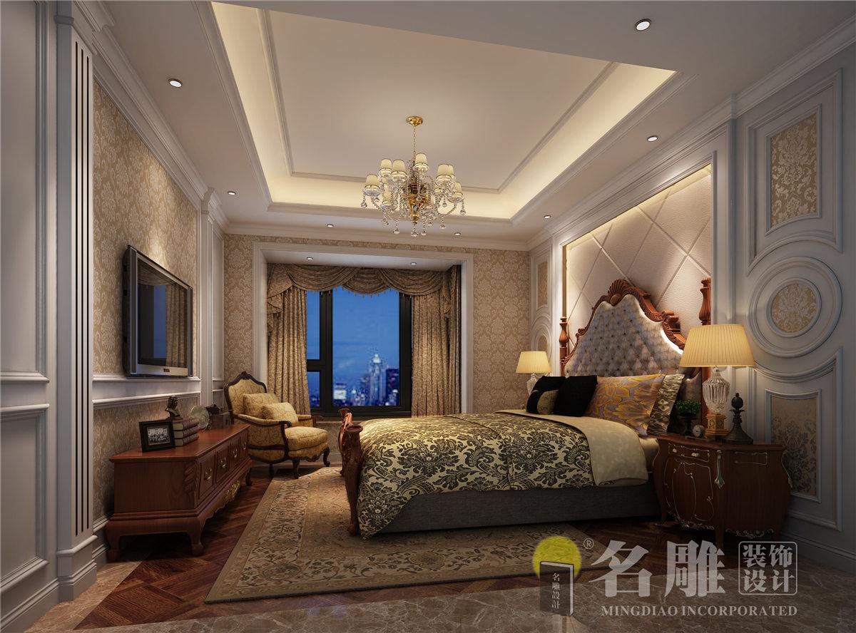欧式 简约 四居室 古典 品质生活 珑禧 卧室图片来自名雕装饰设计在珑禧 简欧风格 四居室的分享