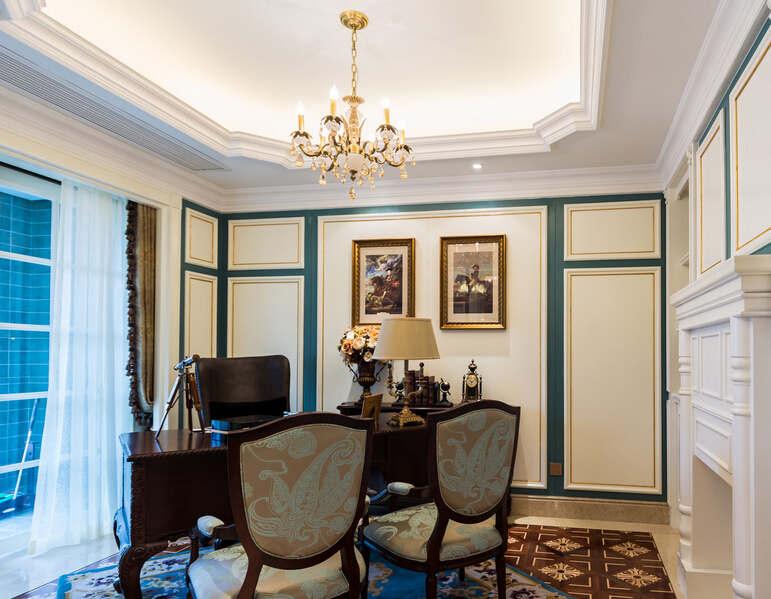简约 欧式 混搭 四居室 法式风格 城南一号 书房图片来自成都V2装饰在城南一号新法式风格的分享