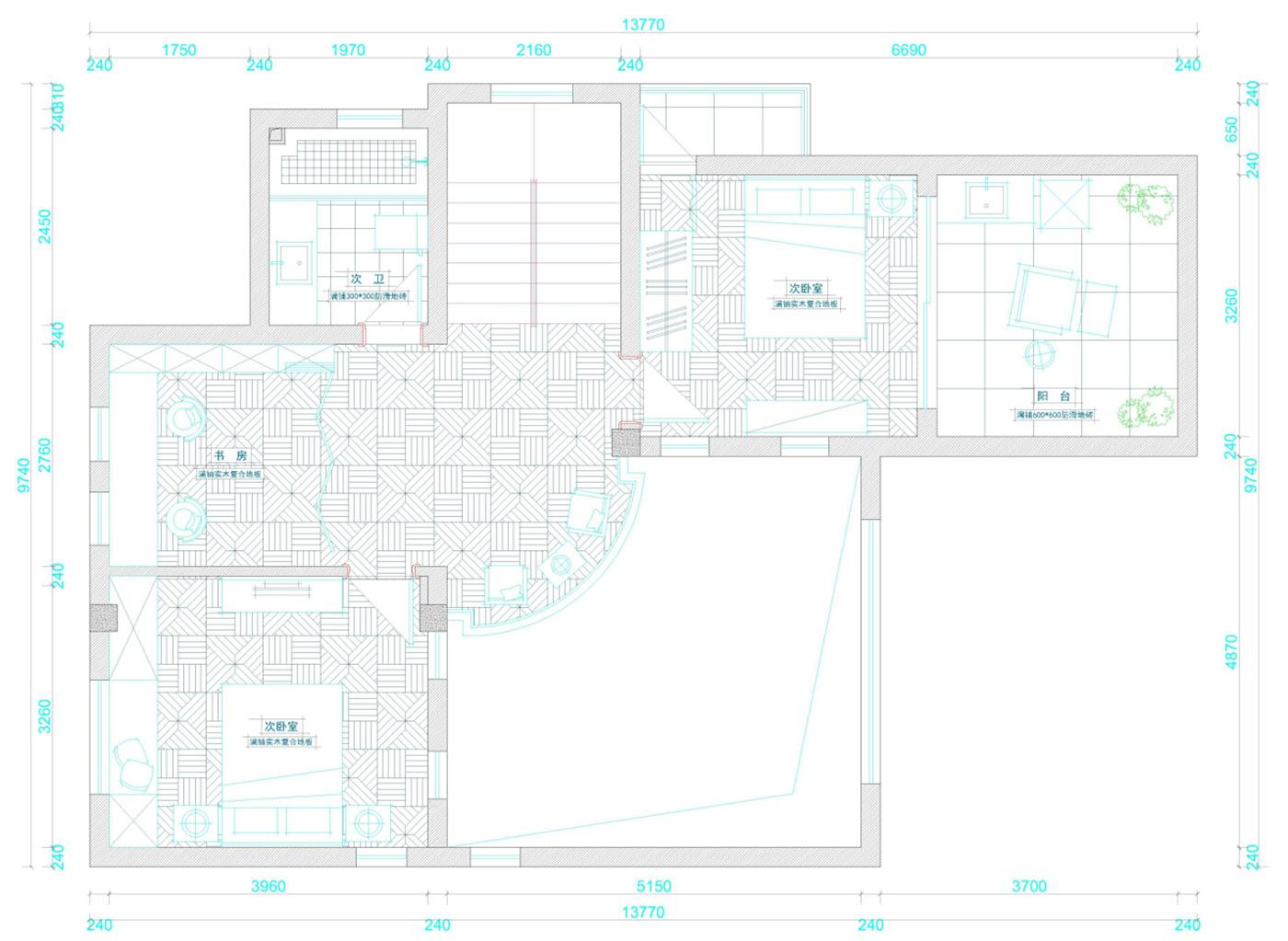 保利叶城 别墅装修 别墅设计 欧式古典 腾龙设计 户型图图片来自腾龙设计在保利叶城172号别墅装修设计方案的分享