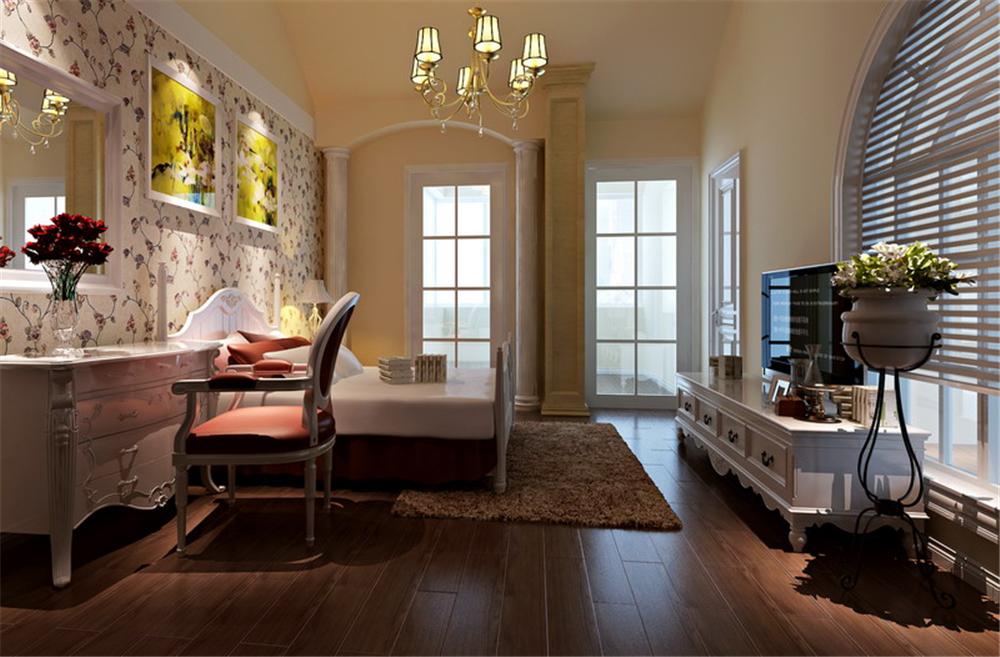 三居 别墅 白领 收纳 80后 小资 卧室图片来自实创装饰完美家装在金色漫香林236平简欧风格案例的分享