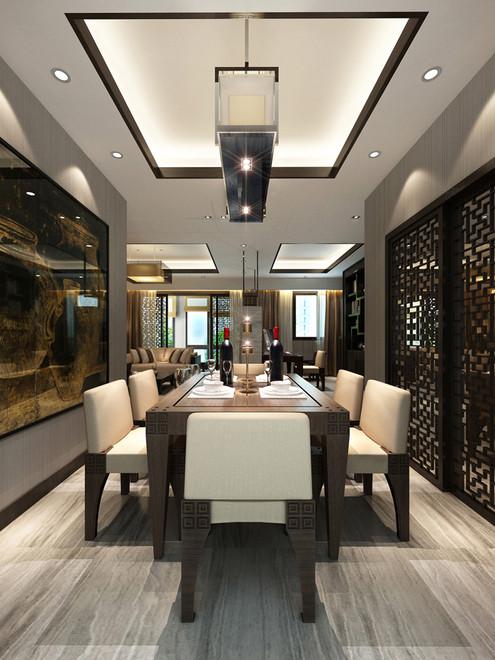 餐厅图片来自fy1160721905在首地浣溪谷 三居室 中式风情的分享