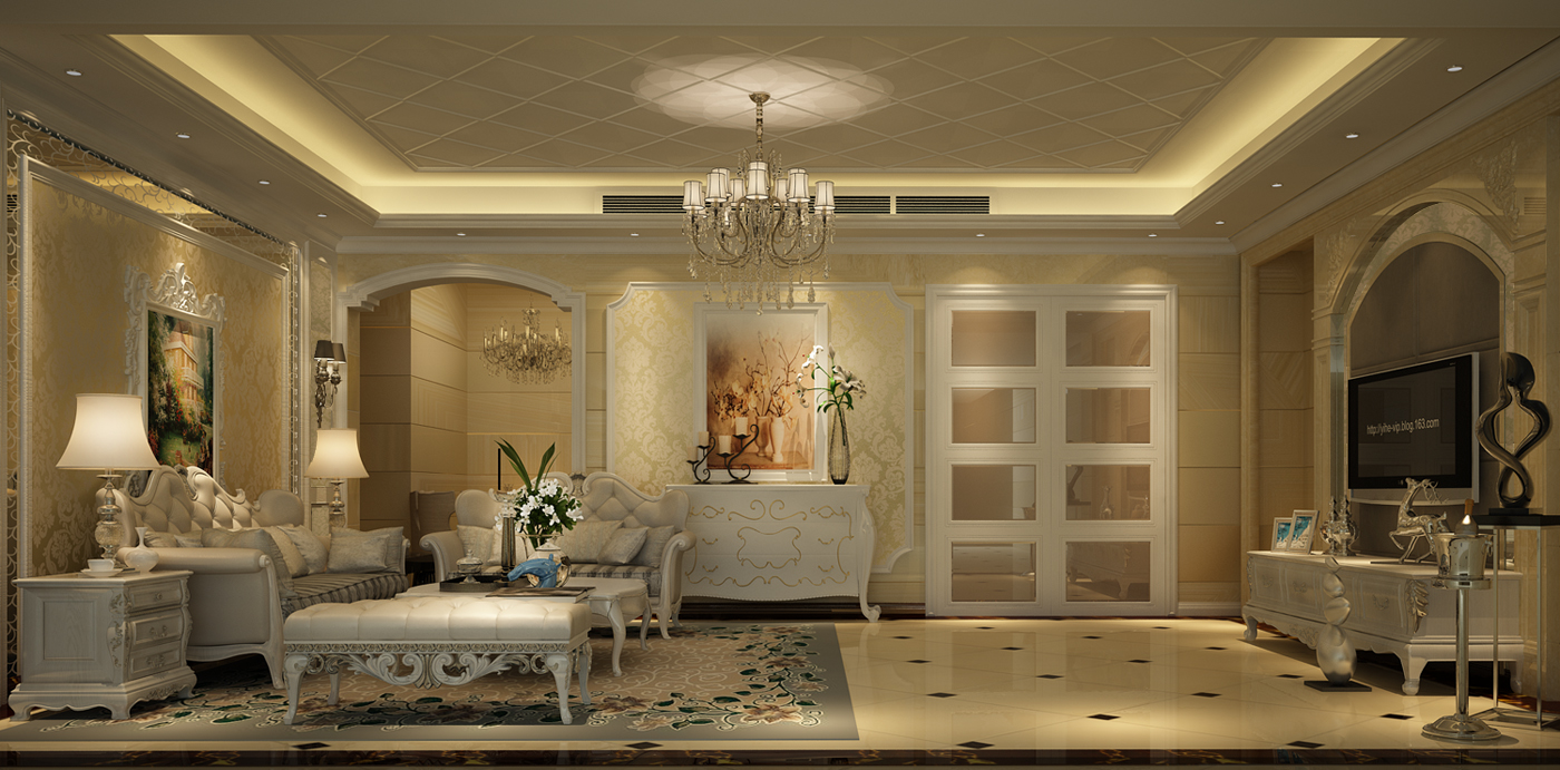 客厅图片来自名雕装饰长沙分公司在摒除古典家具的繁复运用简约线条的分享
