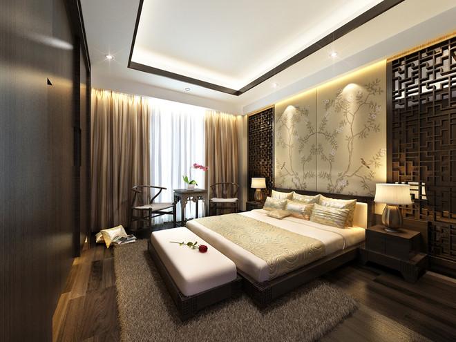 卧室图片来自fy1160721905在首地浣溪谷 三居室 中式风情的分享