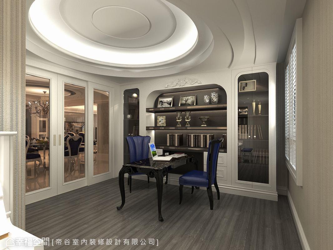 简约 三居 新古典 小资 书房图片来自幸福空间在230平古典奢华宫廷典雅时尚的分享