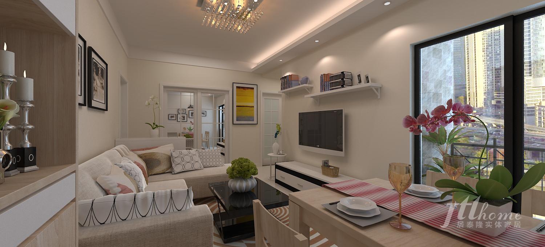 简约 二居 宜居 舒适 温馨 客厅图片来自居泰隆深圳在现代简约-拎包入住的分享