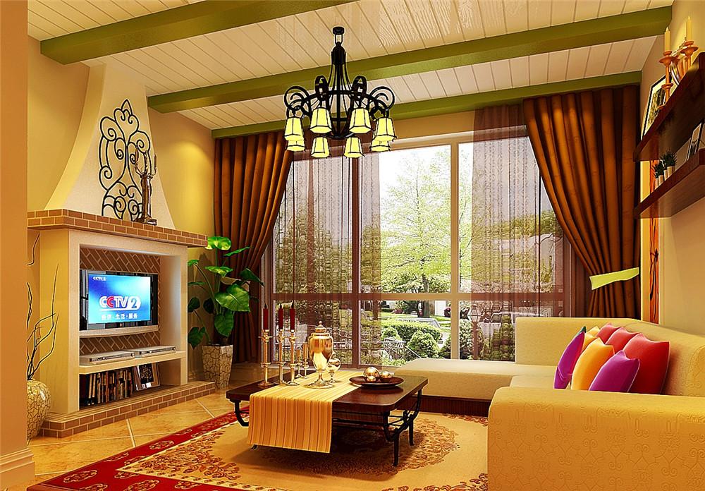 客厅图片来自fy1160721905在中弘北京像素75平美式风格的分享