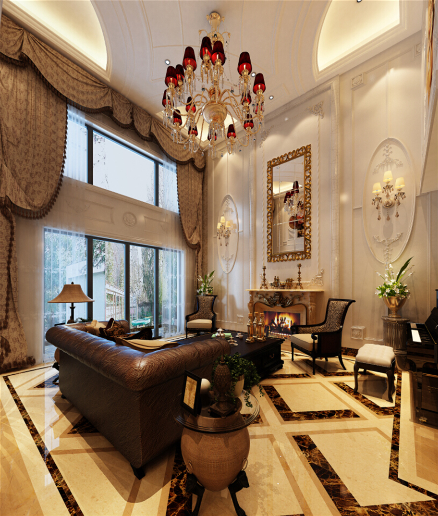 保利叶城 别墅装修 别墅设计 现代风格 腾龙设计 客厅图片来自腾龙设计在保利叶城121号别墅装修设计案例的分享