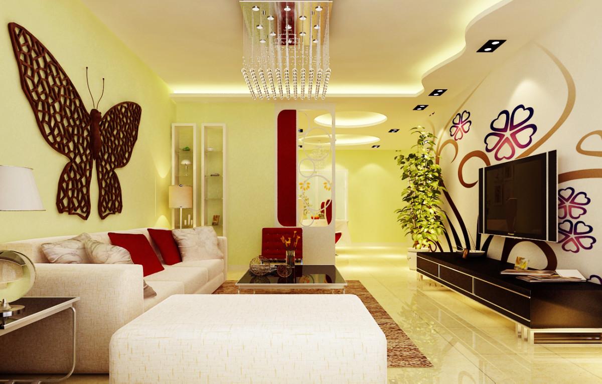客厅图片来自fy1160721905在远洋一方三居室田园风格案例的分享